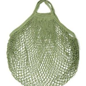 Handbags - French Cotton Market Net Tote/Bag/Moss Green/Short